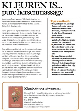 Margriet More Body and Mind Kleurboek voor Volwassenen pure hersenmassage